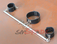 Wholesale Stainless steel spreader bar for restraint handcuffs and collar adult restraint accessories sex product for couple