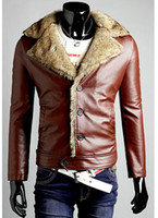 Wholesale DA551 PU leather Korean Slim Casual Men s Jacket coats