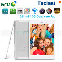 Cheap All in stock Teclast G18 Mini 3G Phone Call Tablet 7.9 inch IPS Google Android 4.2 Screen MTK MT8389 Quad Core 1.2GHz with GPS DHL Free