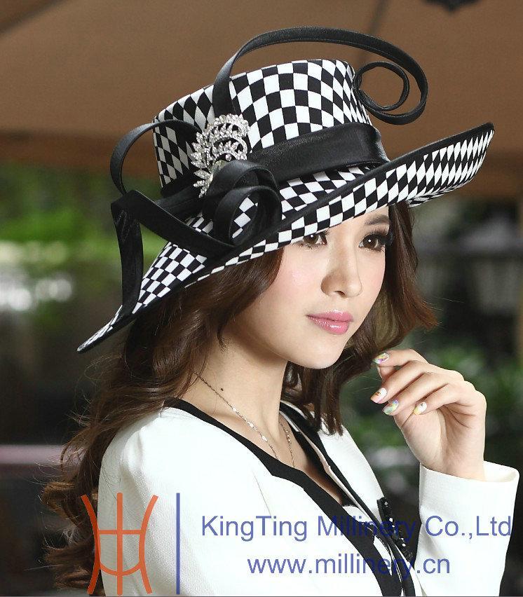 Winter Ladies' Satin Dress Hat