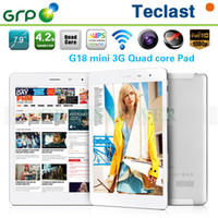 Cheap DHL Free 1GB Ram 16GB Rom Teclast G18 Mini built in 3G Tablet 7.9 inch Android Quad Core 1.2GHz WCDMA GSM Phone Call Function GPS