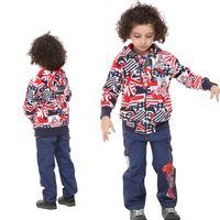 Wholesale A3290 Multi colours to choose Nova kids winter clothing m y boys jackets cotton long sleeve graffiti printing hooded hoodies cheap coat