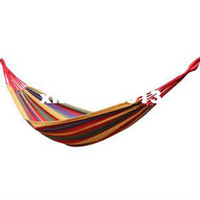 Cheap Canvas 280X 80cm Hammock outdoor camping swing thickening canvas single hammock casual double bearing