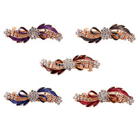 Hair Barrettes & Hairpins Rhinestone Flower Hair Clip  New Women Fashion Hair Accessories Hairpin Luxury Crystal Rhinestone Flower Hair Clip Bride Headwear For Party Feast Wedding 10 Pcs lot