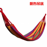 Cheap Outdoor camping hammock swing outdoor thickening canvas hammock casual indoor hammock