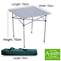 Wholesale 2013 NEW Lightweight aluminum portable barbecue casual outdoor camping folding table