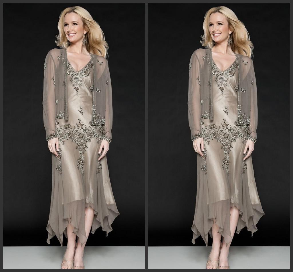 2014 New Design Mother Of The Bride Dresses V-neck Long