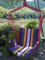 Wholesale Outdoor swing sponge indoor hanging chair thickening canvas chair handrail with