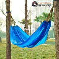 Cheap Free shipping~~casual outdoor camping travel parachute cloth singleplayer portable indoor swing hammock multifunctional hammock