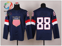 Ice Hockey Men Full 2014 Sochi Team USA Olympic Hockey Jerseys Navy Blue 88 Kane Brand Sports Jersey New Arrival Top Quality Jerseys Hot Sales Athletic Jersey