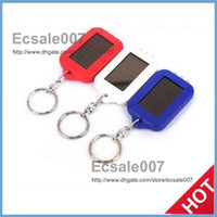 Wholesale Cute Model Solar Power Keychain LED Flashlight Light Lamp Mini Key Chain LED Multi color Rechargeable Perfect Style