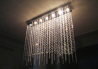 Wholesale Modern Crystal Ceiling Light Curtain Lamps Crystal Lamp Partition Walls Lights Chandelier Living Room Crystal Pendant Lamps