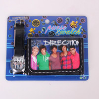 Wholesale New One Direction Watch Quartz Watch Change Purse Gift For Children ONE DIRECTION watch Wristwatches Sets