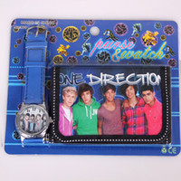Wholesale ONE DIRECTION Cartoon Watches and Purses Gift Wallets for Children Sets Watches and Purses