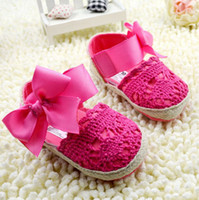 Wholesale Summer Infant Shoes Baby Sandals red bowknot Toddler Shoes soft bottom Baby Girls Shoes cm TS230