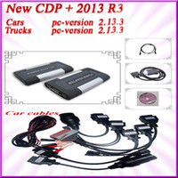 Code Reader For BMW TCS CDP+ CN free shipping! 2013 R3 TCS CDP pro plus generic 3 in1 +multi-languages with full set 8 truck cables auto compact diagnostic tools