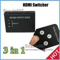Wholesale DHL in Mini Switch Ultra High Performance p Remote Control HDMI Switcher Computer Accessories YS Black