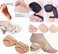 Wholesale 50pairs Super Soft Forefoot Pad High heeled Shoes Invisible Heel Cushions Anti slip Half Insole Thicken Shoe Pads Foot Care Supply
