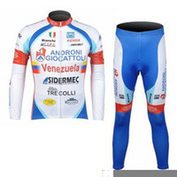 Wholesale Winter Thermal Fleece androni Cycling long sleeve Jersey bicycle clothing and pants bike suits