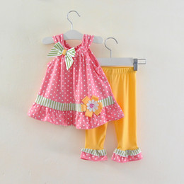 Wholesale new girls pink lace decoration the girls children s clothing set of shipping RU