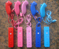 Wholesale Colorful Wiimote Remote Nunchuck Nunchuk Controller Controler Case for Wii DHL