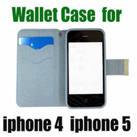 Cheap Bestsellers Free Shipping Leather Wallet Case for iphone 4 4S 5 5s Luxury with Aluminum Buckle with card slot with 6 Colors waitingyou%%