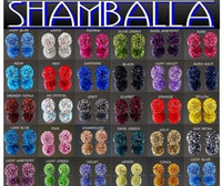 Crystal loose shamballa beads - with tracking number Crystal diy mm shamballa crystal bead loose beads mix color