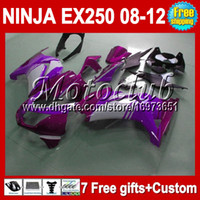 Wholesale purple gifts Kit For Kawasaki Ninja EX250R EX250 EX purple white Fairings Custom
