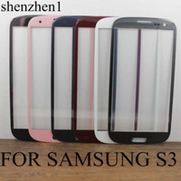 For Samsung Touch Screen  LCD Screen Front Lens Glass Cover White and Black For Samsung Galaxy i9300 SIII S3