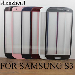 LCD Screen Front Lens Glass Cover White and Black For Samsung Galaxy i9300 SIII S3