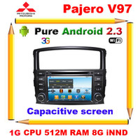 Wholesale Mitsubishi Pajero V97 Android Car DVD GPS with G CPU RAM Capacitive screen Canbus Radio Optional G Wifi