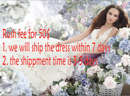 Wholesale Earlybirdno1 Rush fee for days to custom made the dress and days for the shippment
