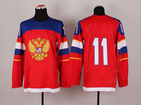 Men olympic hockey jerseys - Olympic Hockey Jerseys Red Russias Evgeni Malkin Nice Stitched Logos Names Hot Hockey Apparel Cheap Discount Olympic Hockey Jersey