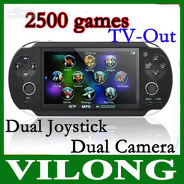 """Wholesale - 4.3"""" TFT Screen 4GB Handheld Game mp5 Player mp3 Player mp4 Player With Dual Joystick Camera FM TV-O"""