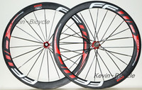 Wholesale 700C MM red FFWD F5R carbon wheels clincher with novatec Hub tubular carbon wheelset ZIPP sram road bike carbon R36 hubs campagnolo g3