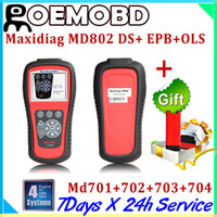 Wholesale AUTEL MD scanner system DS MD802 PRO MD701 MD702 MD703 MD704 auto code reader car diagnostic tool md X431 Idiag as FREE GIFT