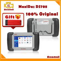 Wholesale 100 Original Autel MaxiDAS DS708 DS auto scanner diagnostic tool update online Multi language GIFT launch X431 IDiag scanner