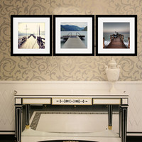 Wholesale Picture print Sea and Bridge Matted photo picture Wall art for home doecor Canvas Print Picture Framed picture for home office decoration