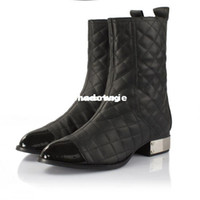 Wholesale brand design genuine leather motorcycle boots for women martin boots and woman winter shoes