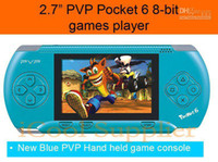 Wholesale Christmas gift inch PVP pocket handheld game player game consoles bit TV out function thous