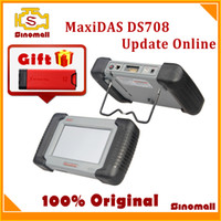 Wholesale 2014 Original Autel MaxiDAS DS708 DS auto scanner diagnostic tool update online Multi language with free gift Launch X431 Autodiag