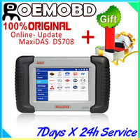 Wholesale Autel MaxiDas DS708 Automotive Diagnostic Analysis System OBD EOBD Scanner For EU US Aisian Vehicles Launch Idiag AutoDiag as FREE GIFT
