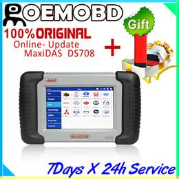 Wholesale Autel MaxiDas DS708 Automotive Diagnostic Analysis System OBD EOBD Scanner For EU US Aisian Vehicles multi language with GIFT X431 Idiag