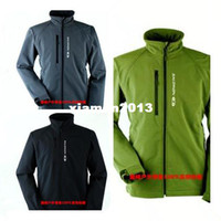 Wholesale Men Outdoor Salomon Softshell Jacket Hiking Hunting Climbing Plus Size Clothing Water Wind Proof Skiing Thickening Sportswear