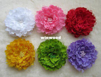 Wholesale quot Big Flower big Rose Flowers Colors With Hair Clips Hair Accessory