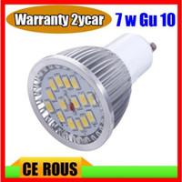 Wholesale Dropshiping W GU10 SMD LED Spotlight Bulb Light lamp V cool white Warm White Warranty years