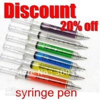 Wholesale OF001 Hotsale COLORS Syringe pen Nurse Ball point pen promotion Protect White Box Packing