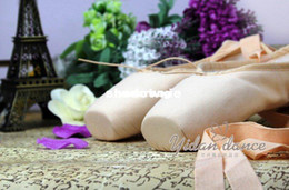 Wholesale Sansha Ladies Women s Professional Canvas Ballet Pointe Dance Shoes full sole ribbons included price