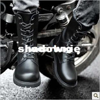 men military boots fashion - fashion military round toe combat martin boots casual extra large cow leather for men