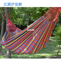 Cheap Indoor and outdoor casual hammock broadened thickening canvas lovers double hammock swing 200*150mm 150KG load